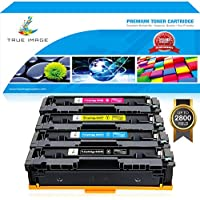 True Image 4 Packs High Yield Compatible Replacement for Canon Cartridge 045 045H CRG-045H CRG-045 for Canon Color ImageCLASS MF632Cdw MF634Cdw LBP612Cdw MF632 MF634 LBP612 Laser Printer Toner Ink