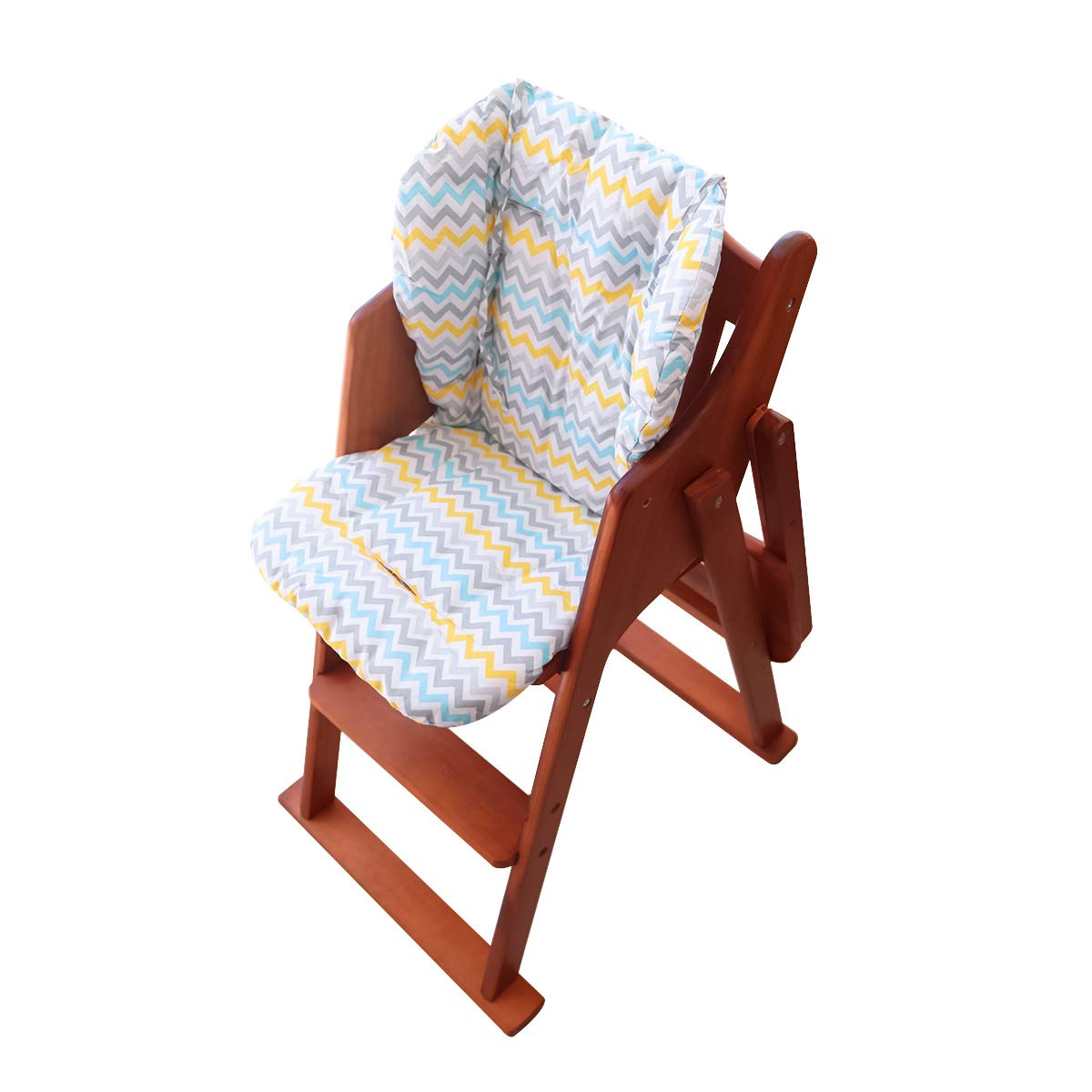 Wavy Stripes Large Thickening Baby High Chair Seat Cushion Liner Mat Pad Cover Breathable Twoworld High Chair Cushion