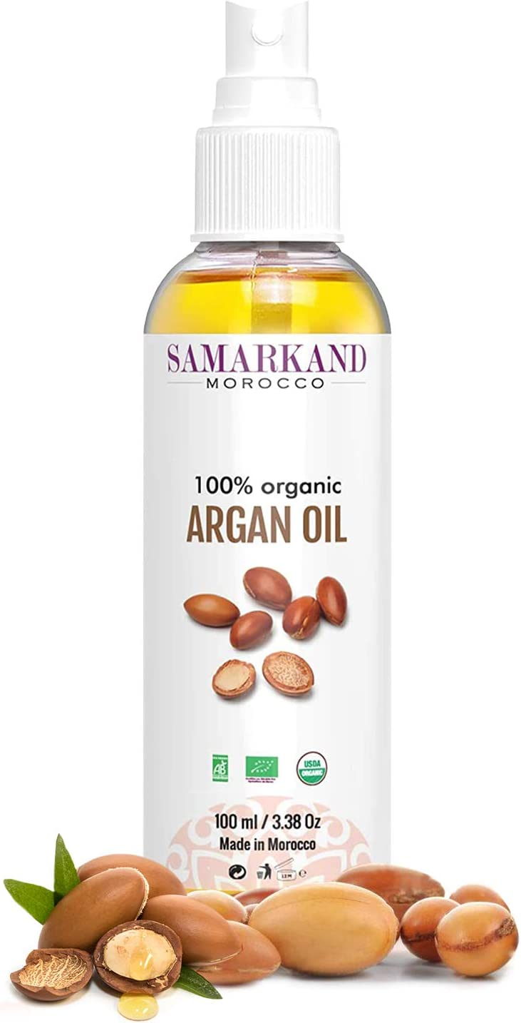 Aceite de Argán Bio 100% Puro Ecológico Primera Presión en Frío para Pelo y Piel - El Original de Marruecos (100 ml)