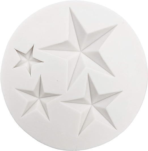 Molde 3D para decoración de tartas, estrellas, nubes, luna ...
