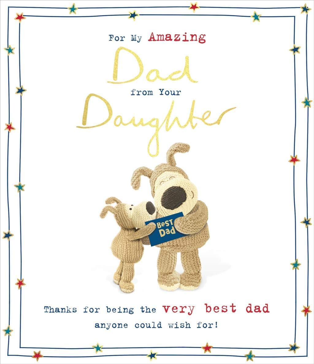Boofle Holding A Present Father/'s Day Open Anyone Greeting Card