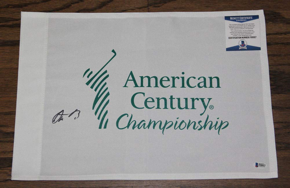 Aaron Rodgers Autographed Signed Auto American Century Championship Flag Bas #F00027 Packers