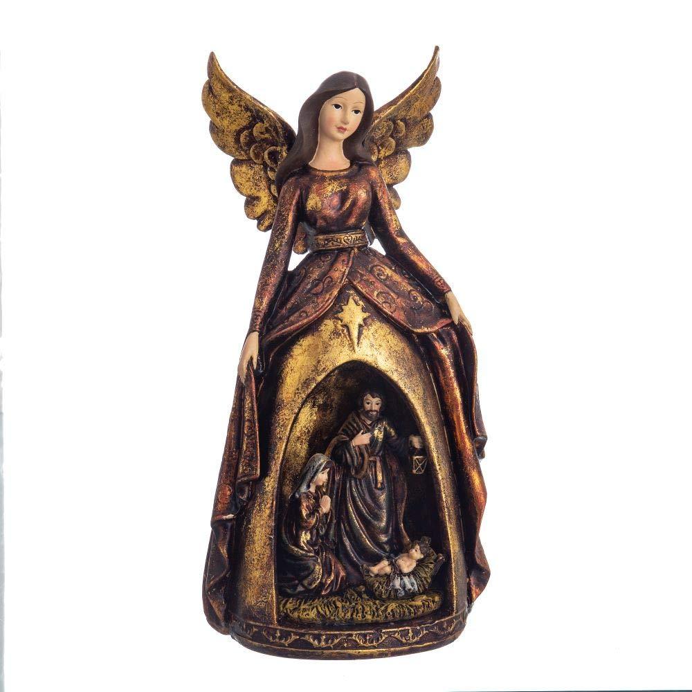 Figura Ángel de la  Navidad- Pesebre Dorado