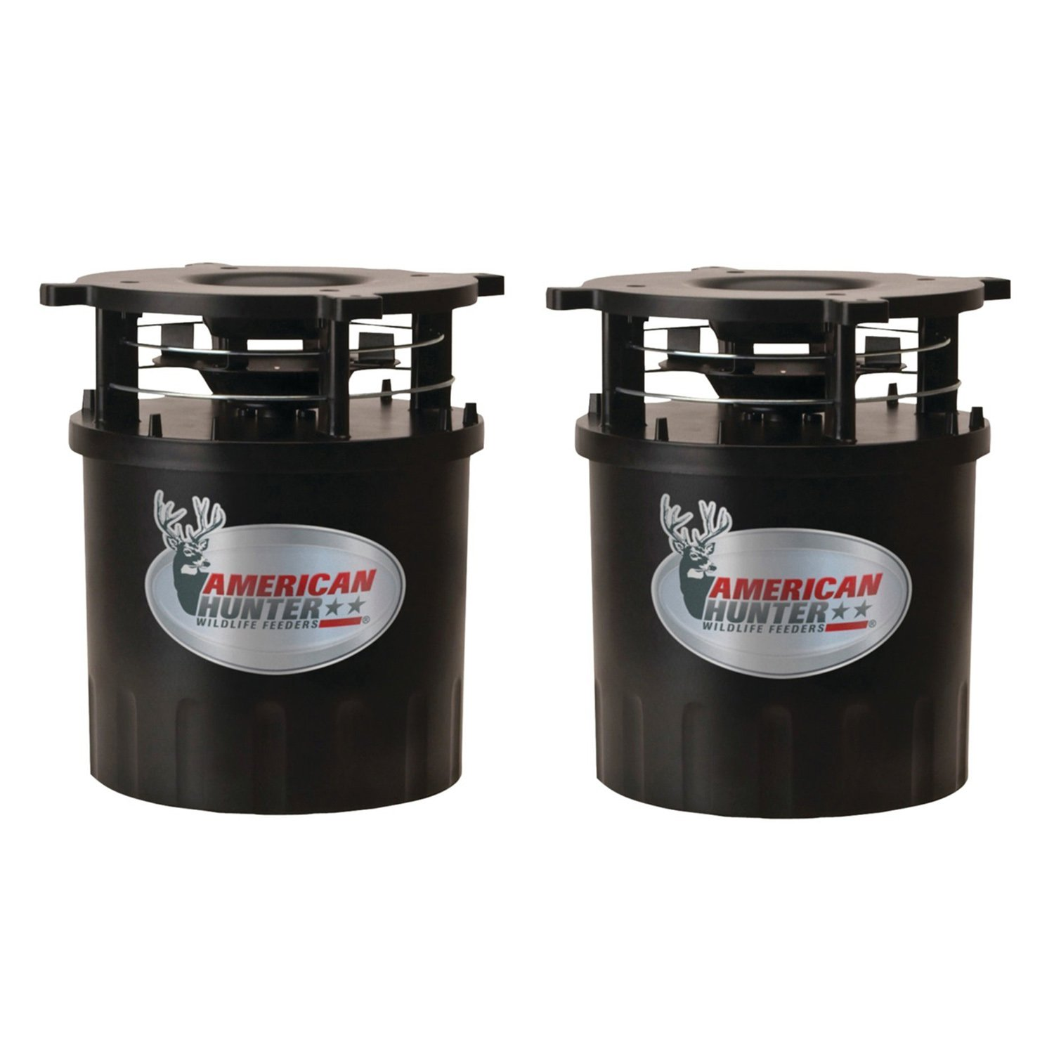 American Hunter R-Pro Wildlife Game Feeder Kit w/ Timer & Varmint Guard (2 Pack)