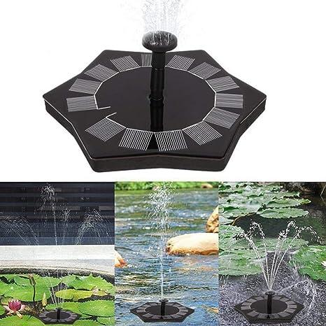 ZLJWRQY Fuente Solar Fuente Bomba 1.4 W jardín Solar Bomba de Agua Bomba de Agua con energía Solar Bomba de Fuente Flotante para birdbaths o pon: Amazon.es: Deportes y aire libre