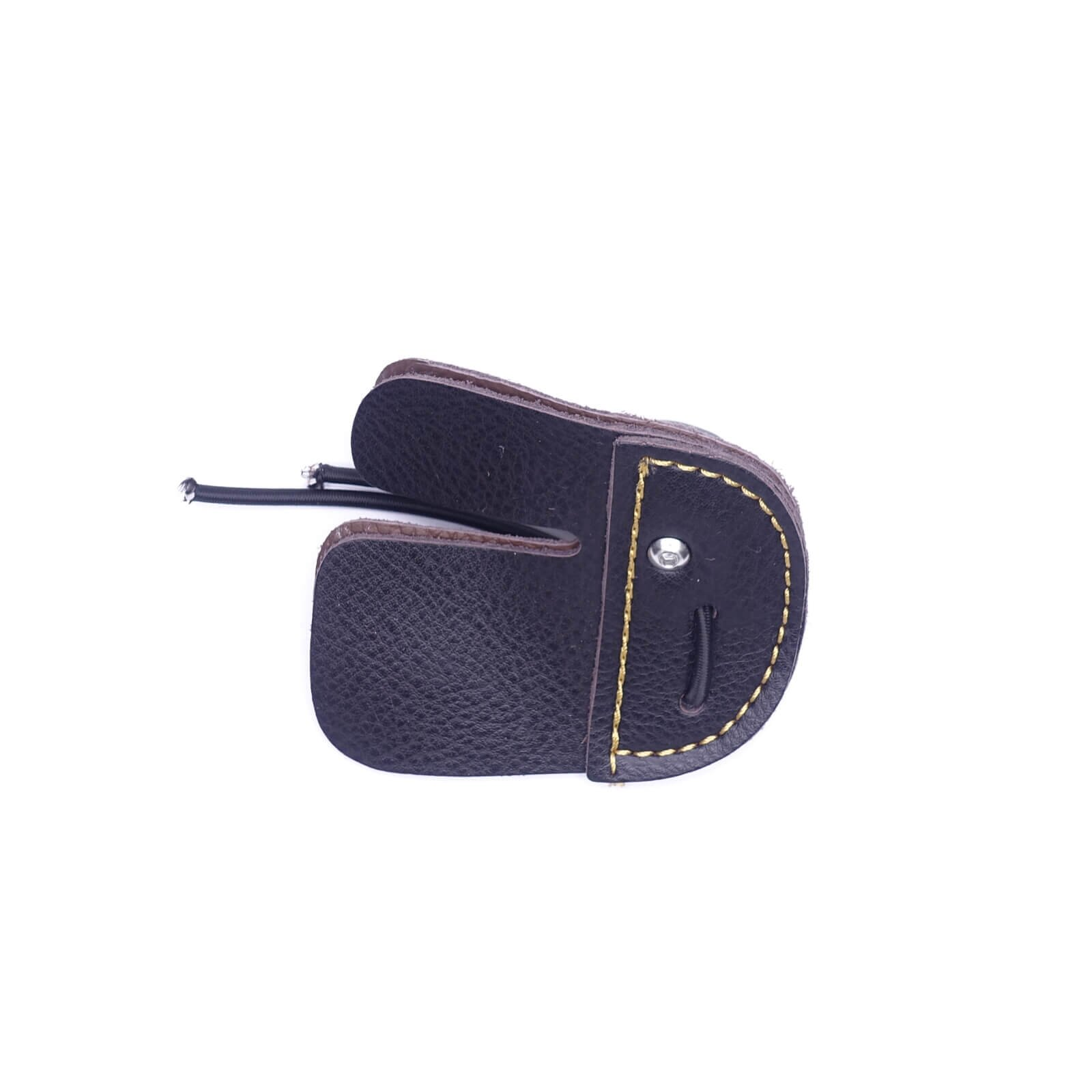 Mandarin Duck Recurve Bow Finger Tab Leather Brown Hunting Guard Protective Gear by Mandarin Duck
