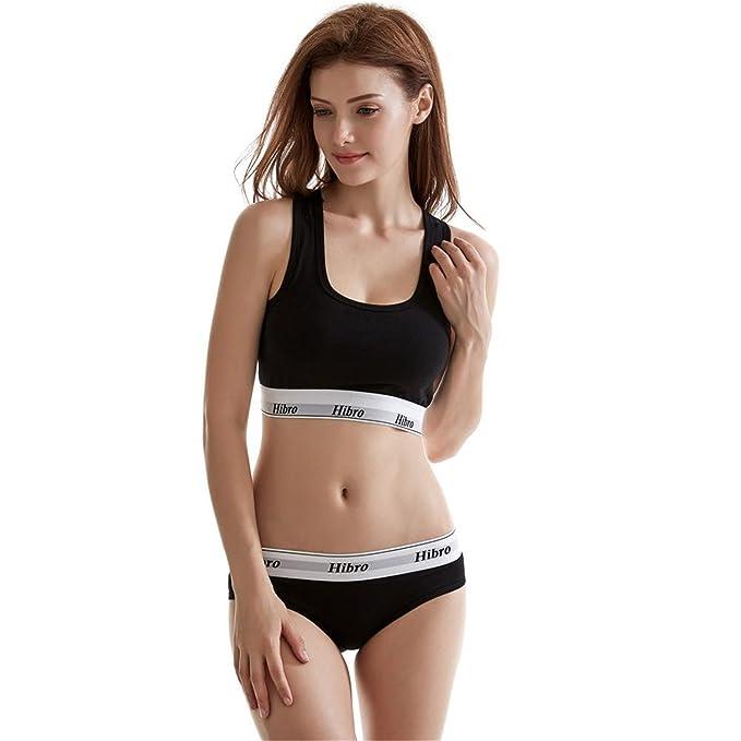 a79e8230e28b4c Women's Underwear Boxers Bra Set Cotton Comfortable Vest Intimates Seamless  Sexy Women Thongs Stretch Briefs Bras