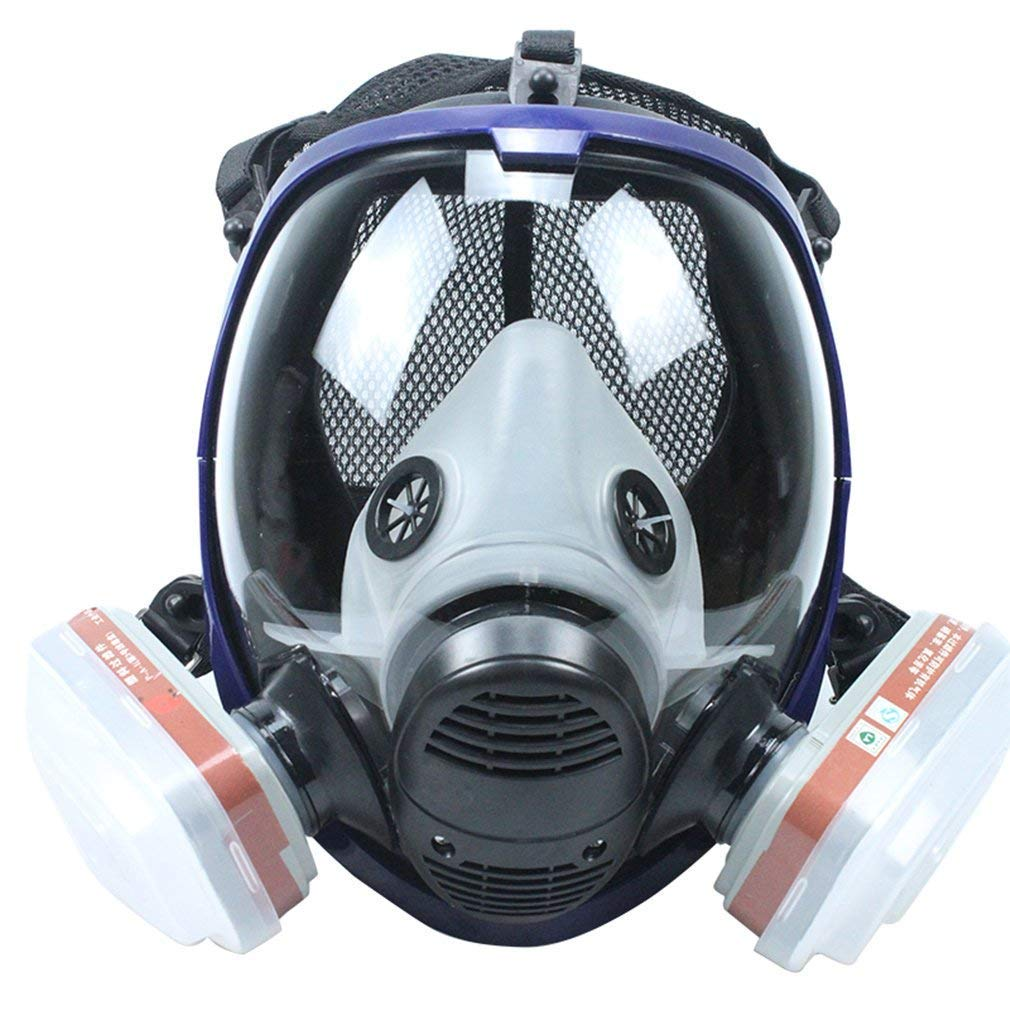 REBUNE 7 In 1 Set Full Face Gas Mask Full Facepiece Respirator For Painting Spraying Protection Tool