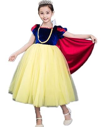 0f46153868958 SKWELL ハロウィン 白雪姫風 子供セット 女の子 ドレス ワンピース マント プリンセス風 コスプレ 子供用 フリフリ