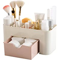 Makeup Organizer Cosmetic Storage, Saving Space Desktop Comestics Makeup Storage for Brushes Palettes Lipsticks