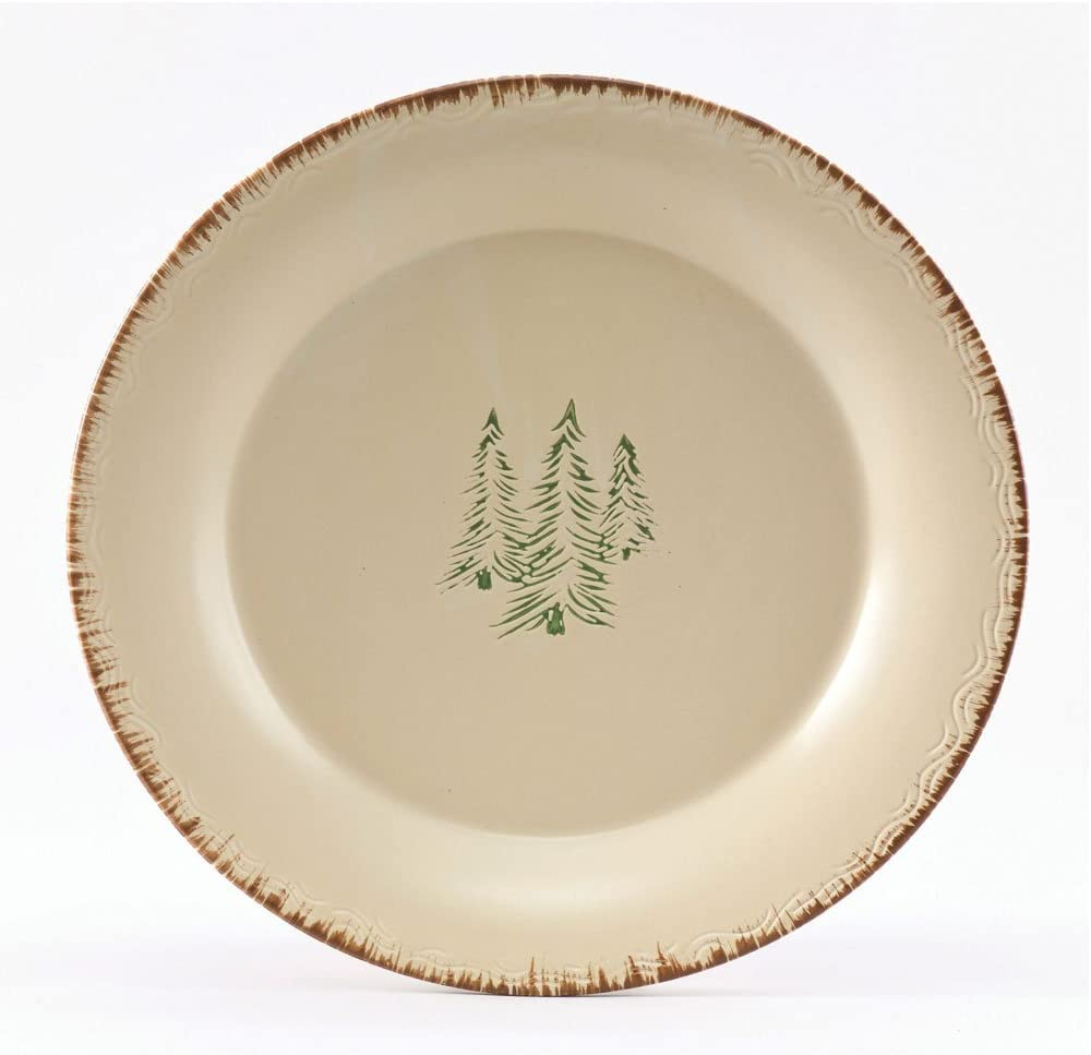 set of 4 Park Designs Rustic Retreat Bear Salad Plates