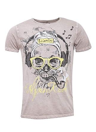 Hangowear Herren Trachten Mode Trachtenshirt Finn in Beige