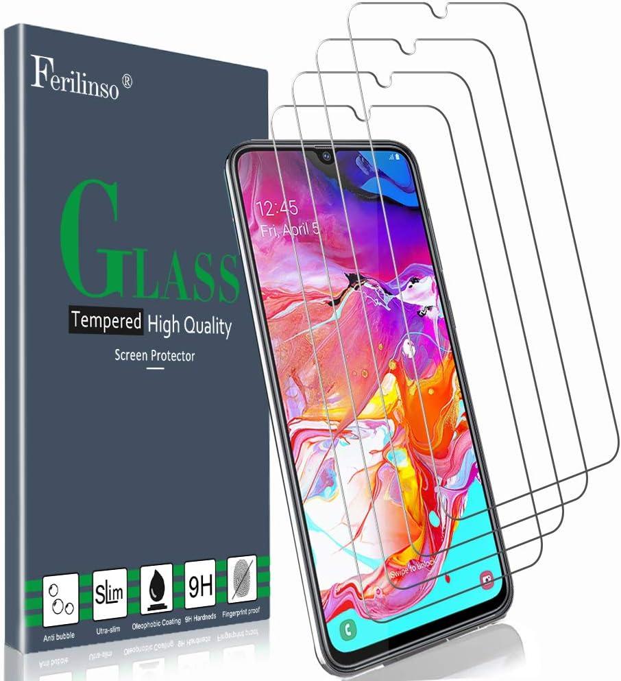 Ferilinso Cristal Templado para Samsung Galaxy A70S,A70 Protector de Pantalla, [4 Pack] Protector de Pantalla Screen Protector: Amazon.es: Electrónica