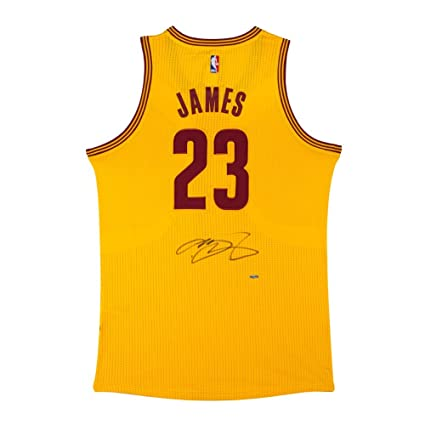 huge selection of 06fea 95b5a LeBron James Autographed Cleveland Cavaliers Jersey - Gold ...