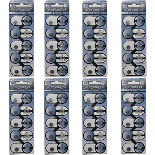 eCoreCell (40pcs) CR927 3V 3 Volt Lithium Single Use Non-rechargeable Button Coin Cell Battery