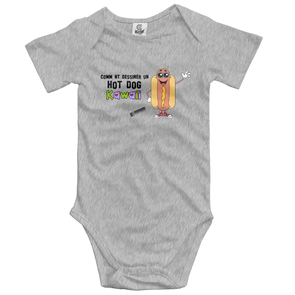 VANMASS Infant Hot Dog Short Sleeve Bodysuit Playsuit Clothes