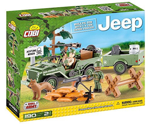 (COBI Small Army Jeep Willys with 1/4 Ton Cargo Trailer)