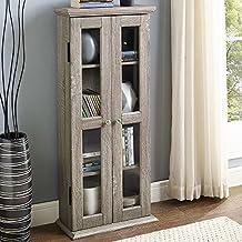 "WE Furniture 41"" Wood Media Cabinet - Driftwood"