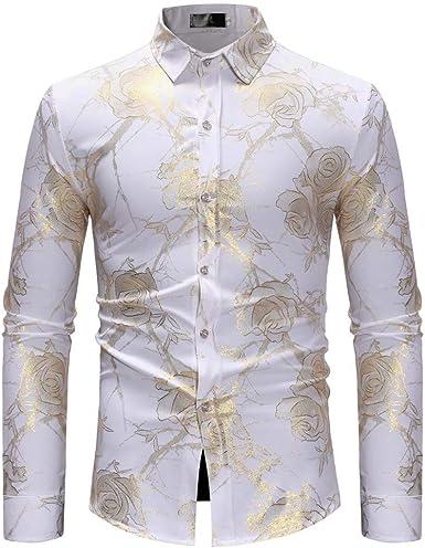 Camisa para Hombre Negro Manga Larga Moda Casual Lino Blusa ...