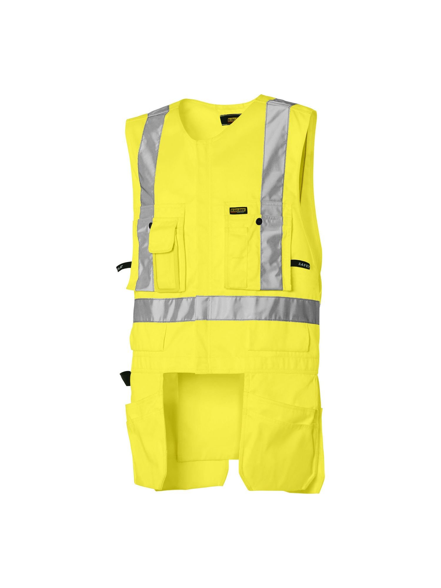 Blaklader Yellow Size XXL Hi-Vis Utility Vest for Carpentry Construction