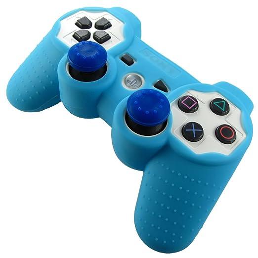 330 opinioni per Pandaren® Pelle cover skin per il PS3 controller(azzurro) x 1 + pollice presa x