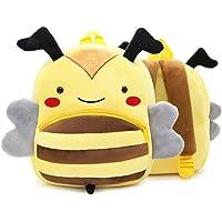 MITOWERMI Cute Toddler Backpack Preschool Baby Bag Plush Animal Cartoon Mini Travel Bag for Girl Boy 1-5 Year Old