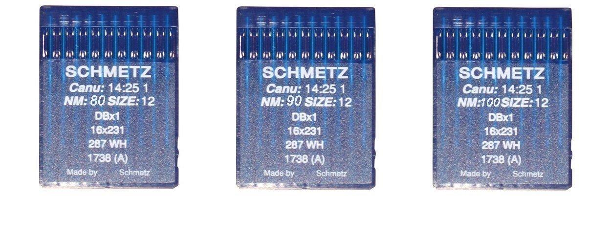 Agujas Schmetz para maquinas de Coser 1738 industriales DBx1 Redondas Originales (3kit)