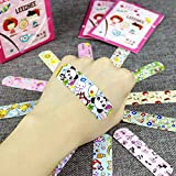 Dabixx Children Dreathable Waterproof Wound Patch Cartoon Waterproof Bandage Band-Aid Hemostatic Adhesive For Kids Children 100 Pieces 7.2cmx1.9cm/2.83'x0.75'