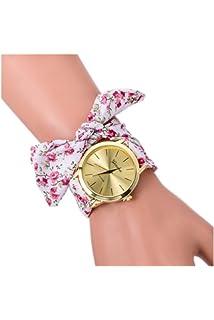 Montre-bracelet - GENEVA Montre-bracelet de bande d echarpe de dots pour af0f65a554b