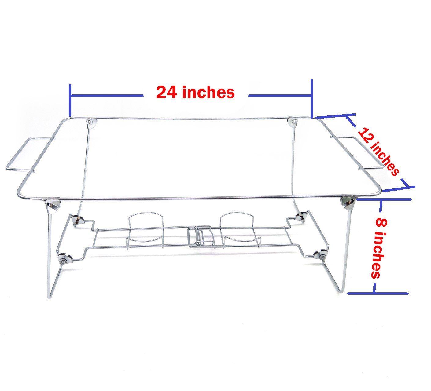 3 Pack Buffet Wire Rack Folding Chafing Stand Chrome Frame Serving Trays Food  Warmer | Easy ...