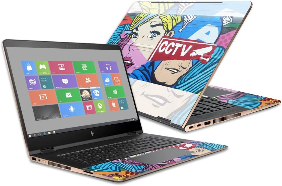 """MightySkins Skin Compatible with HP Spectre x360 Convertible 15.6"""" (2017) - Train Graffiti 