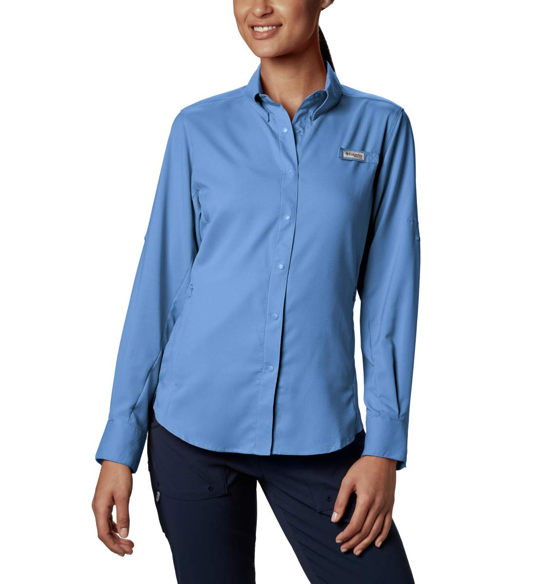 Columbia Women's PFG Tamiami II Long Sleeve Shirt , White Cap, Small by Columbia
