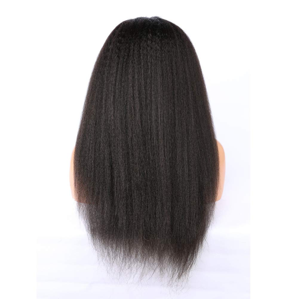 ALYSSA Free Part Human Hair Wig With Baby Hairs Unprocessed Kinky Straight 150% Density Full Lace Wigs For Woman 24inch Natural Color by Alyssa (Image #3)