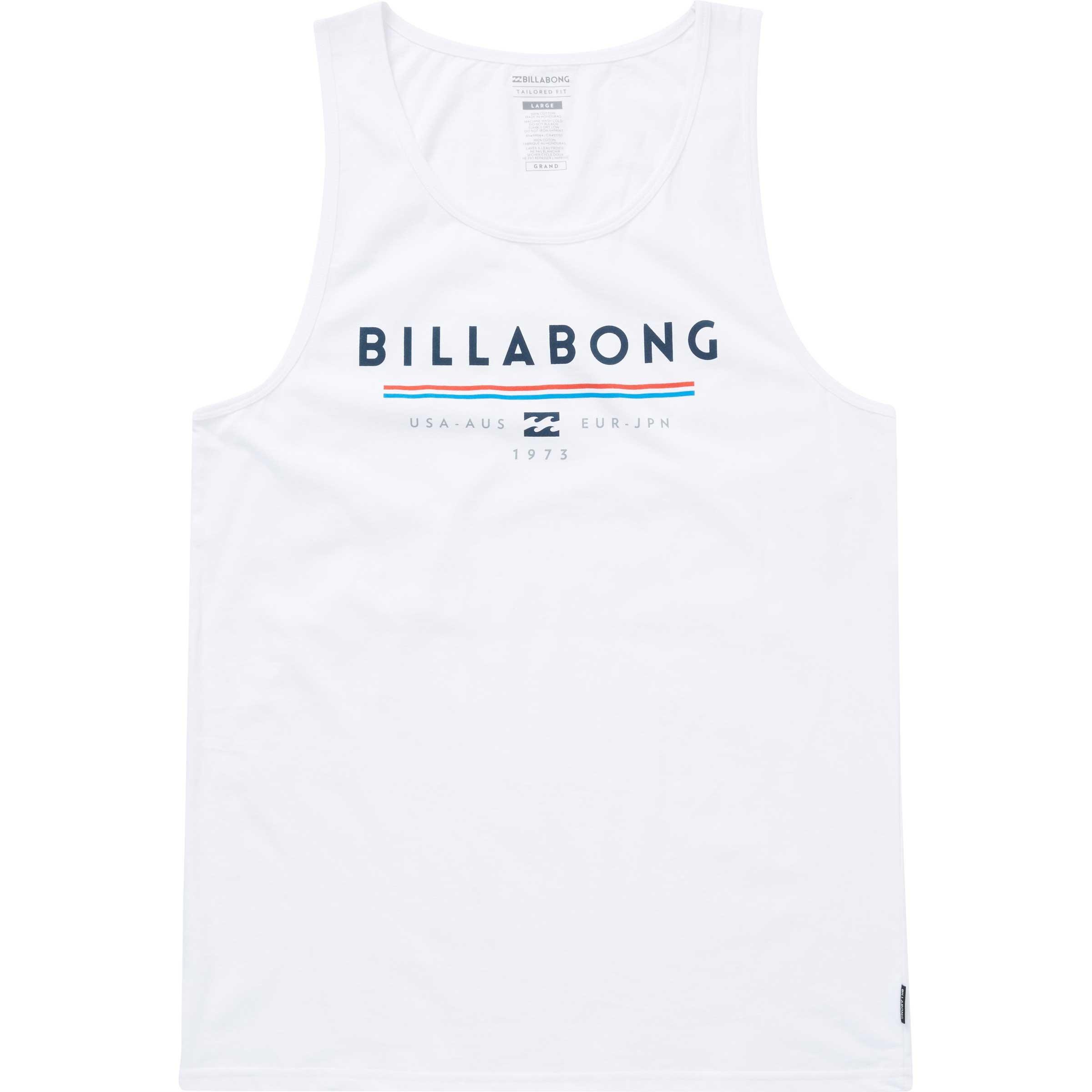 Billabong Men's Unity Tank, White, M