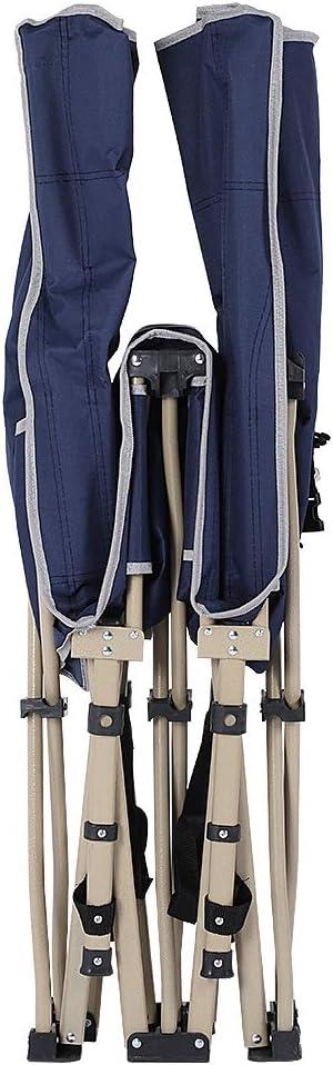 37 Dancal Lit Pliant Camping Tube carr/é Multi-Fonctionnel 10ft Camp Lit avec Sac Side Pocket Carry Plein air Voyage P/êche Dormir 67 190