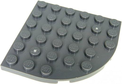 New 6003 Quantity 4 Lego Dark Bluish Grey 6 x 6 ROUND CORNER PLATE