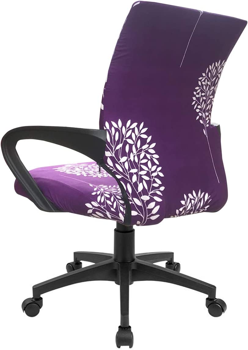Black, Medium Chair not Included MOCAA Office Chair Cover Computer Ergonomic Chair Mid Back Swivel with Armrest Chair Cover