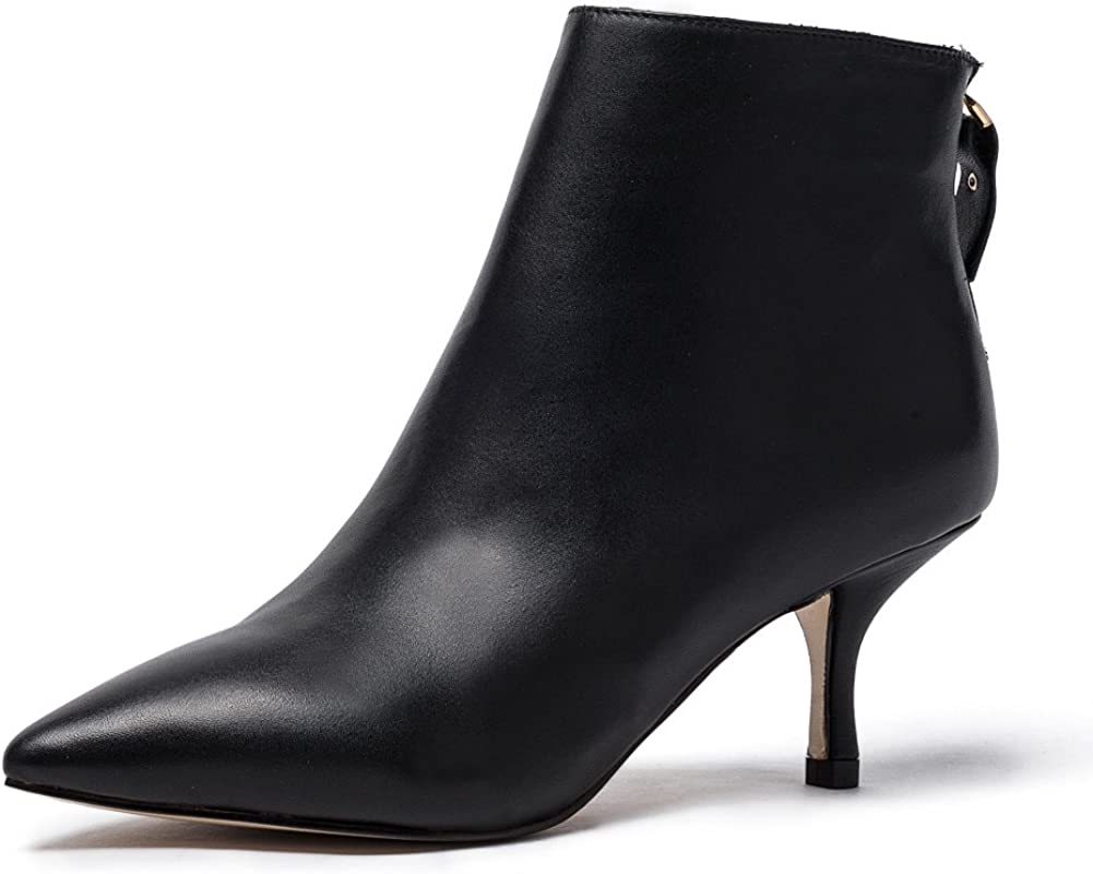 Women's Leather Ankle Boots Sexy Ladies