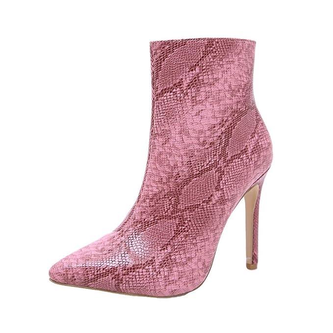 Mujer Botas Polpqed Tacon Altas Invierno Botines Zapatos hoBxrQtsdC