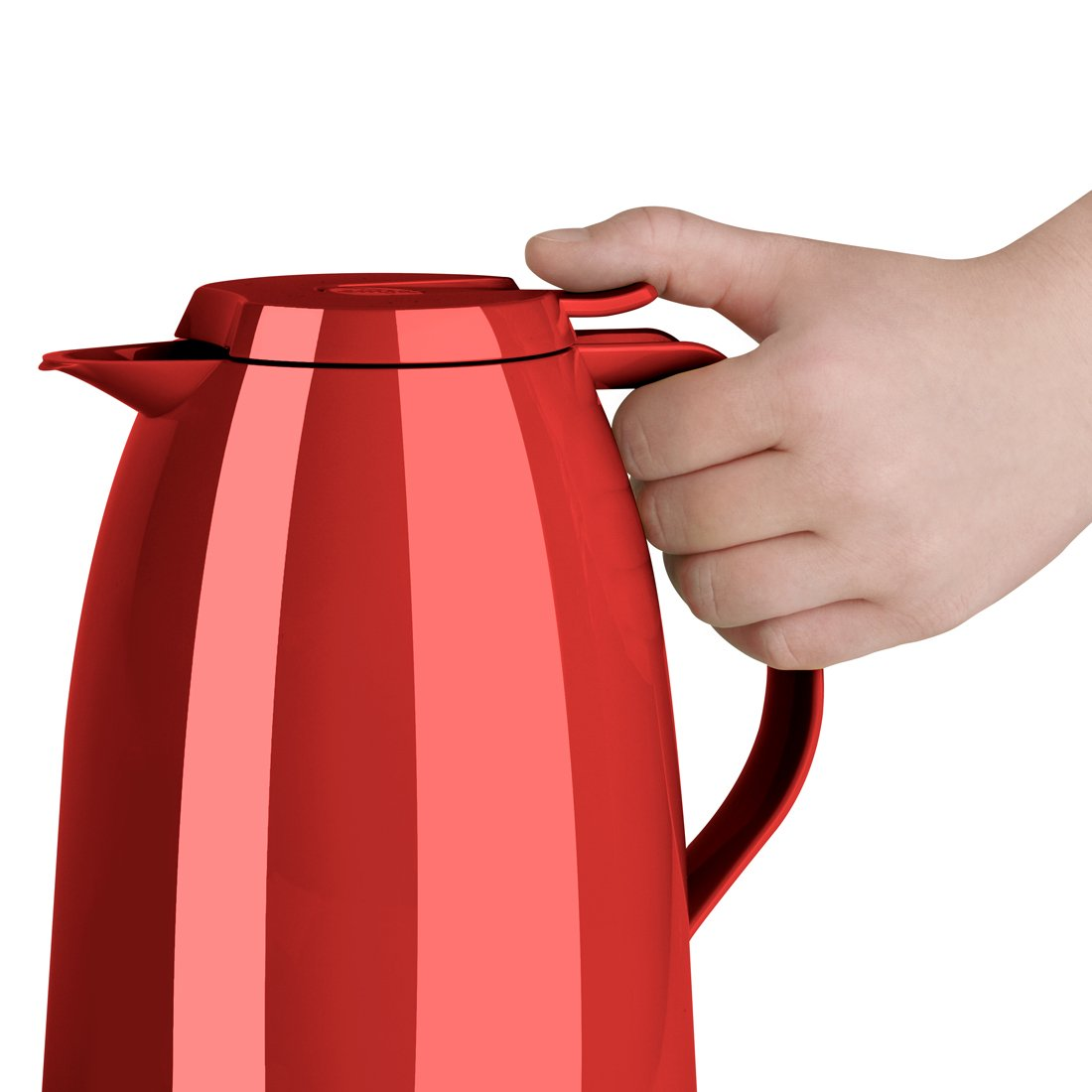 51 oz Emsa Mambo High Impact Plastic Thermal Carafe with Glass Liner Red