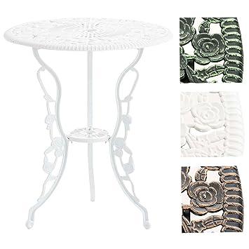 CLP Table de Jardin Sharma en Fer I Diamètre Ø 60 cm et Hauteur 68 ...