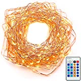 String Lights Christmas Lights Fairy Lights Led lights Xmas Lights (120LEDs - 39ft - Copper Wire - Remote Control) Dimmable lights for Outdoor Decorations - Bedroom - indoor - - Xmas - Wedding - Holiday-Warm White