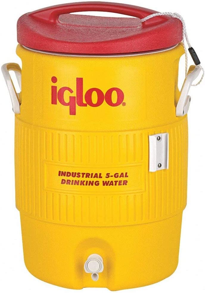 Igloo 451 400 Series Industrial 5 Gallon Cooler - Red/ Yellow