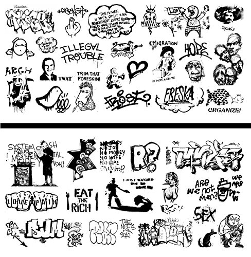 (HO Scale Graffiti Waterslide Decals 2-Pack #20 - Weather Your Box Cars, Hoppers, & Gondolas!)