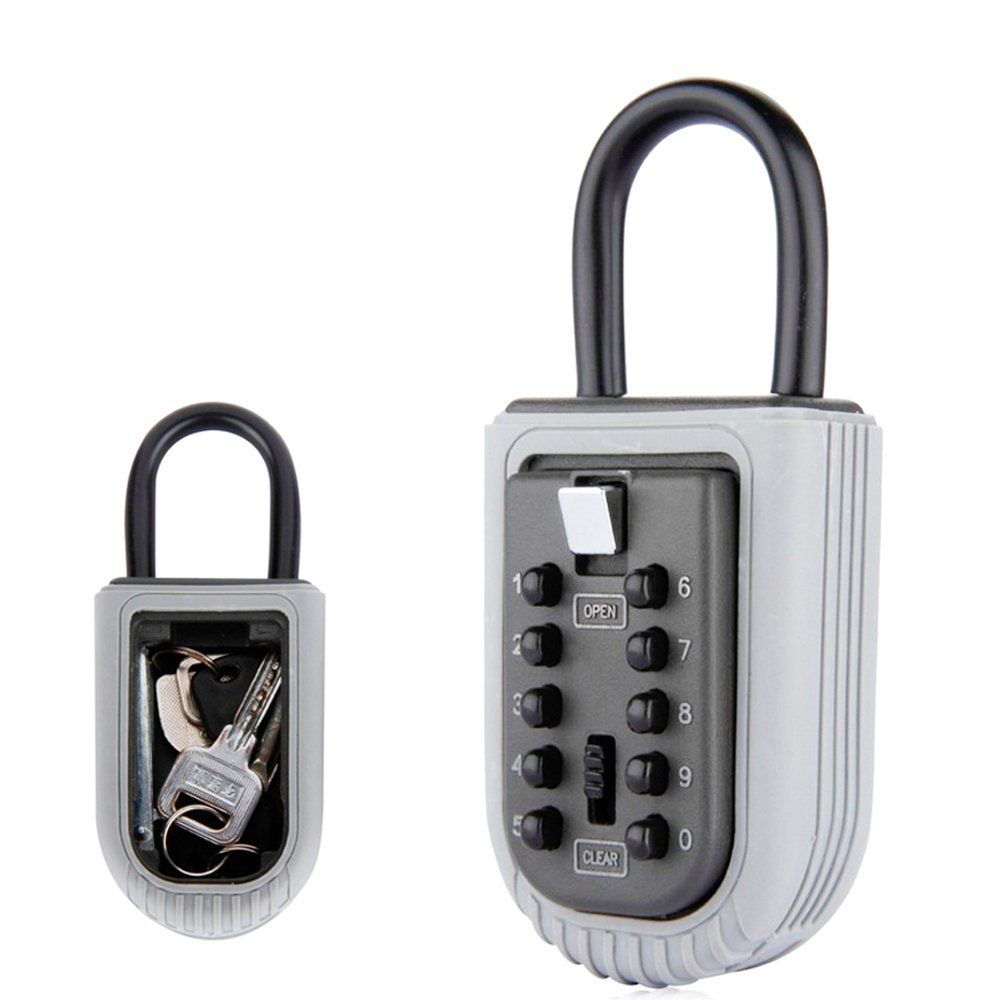 Lock box for key Combination Lock Wall Mount Key Lock Box with 10 Digit Push Button Weather Resistant for Indoors or Outdoors