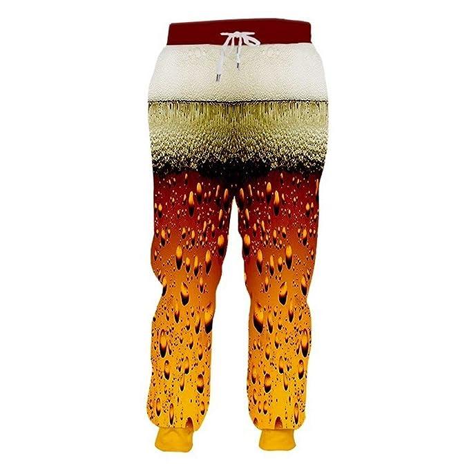 Hilegdr.P Joggers Pantalones de chándal Estampados con Cerveza ...