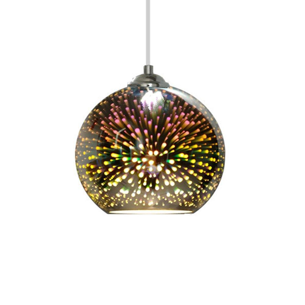 Glas Pendelleuchten Kreative 3D Droplight Bunte LED Lampe Für Kinderzimmer E27 Licht Schatten (Birne Nicht Enthalten)