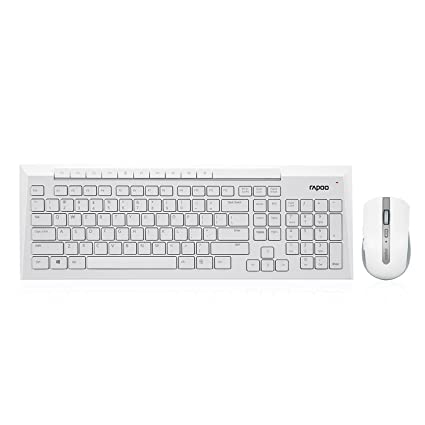 c21d21d31c4 Amazon.in: Buy Rapoo 8200P Wireless Keyboard/Mouse 5Ghz (White) Online at  Low Prices in India | Rapoo Reviews & Ratings
