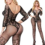 "Specification: 100% brand new and high quality Material: Nylon+Spandex Care of garment: Hand-wash only Comfortable and Lightweight One size (fit size S to XL, Suitable for Ladies with 155 - 180 cm Height.) Features: A ""must-have"" item for your sexy w..."