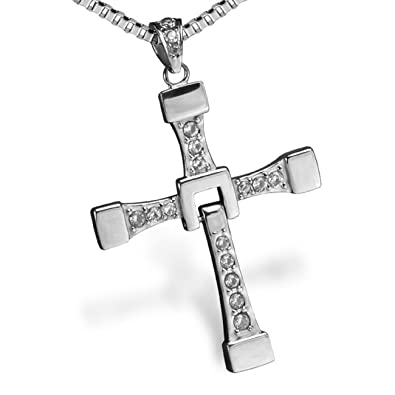 46ae66c9884f1 Fast and Furious Vin Diesel Dominic Toretto Cross Necklace Jewellery